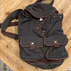 Fossil Bags - Fossil backpack leather trim great used condition